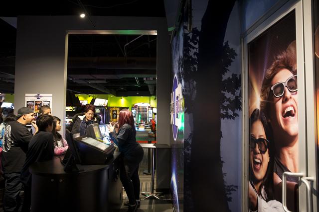 People in line for the XD Dark Ride at GameWorks in Town Square on Friday, Dec. 30, 2016, in Las Vegas. Erik Verduzco/Las Vegas Review-Journal Follow @Erik_Verduzco