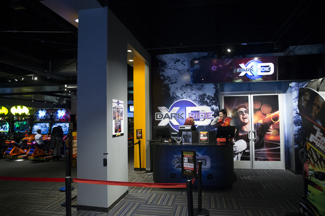XD Dark Ride at GameWorks in Town Square on Friday, Dec. 30, 2016, in Las Vegas. Erik Verduzco/Las Vegas Review-Journal Follow @Erik_Verduzco