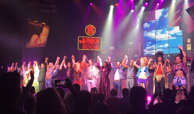 """The cast of """"Rock of Ages"""" receives a standing ovation as it closes its run at the Rio on Sunday, Jan. 1, 2017. (Courtesy photo)"""