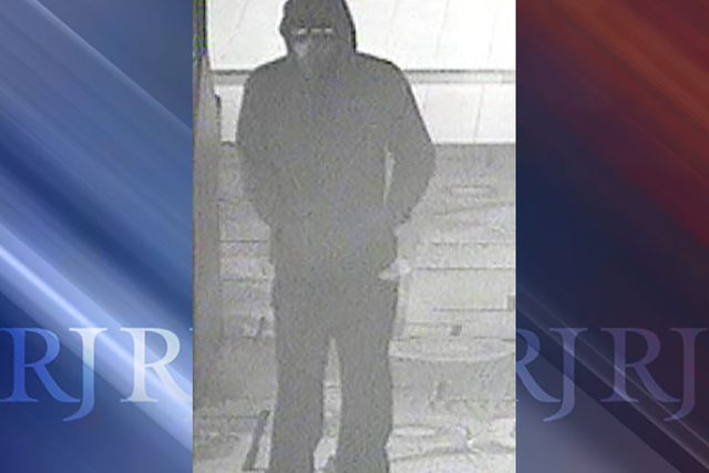 A robbery suspect enters the Silverton casino on Tuesday night. (Las Vegas police)