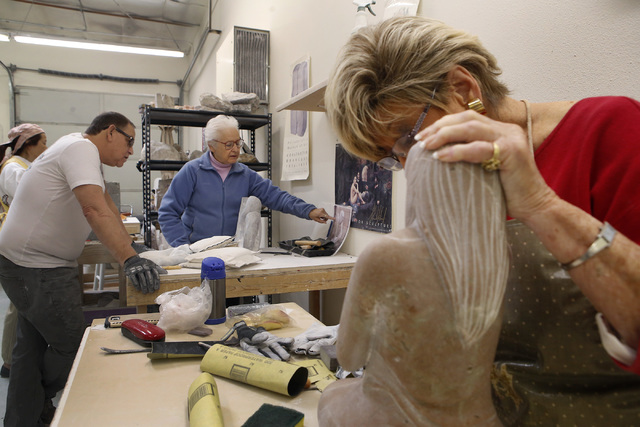 While some of Sharon Gainsburg's students practiced an artistic pursuit prior to beginning stone carving, others dubbed themselves decidedly non-artistic. But by starting with abstract shapes, Gai ...