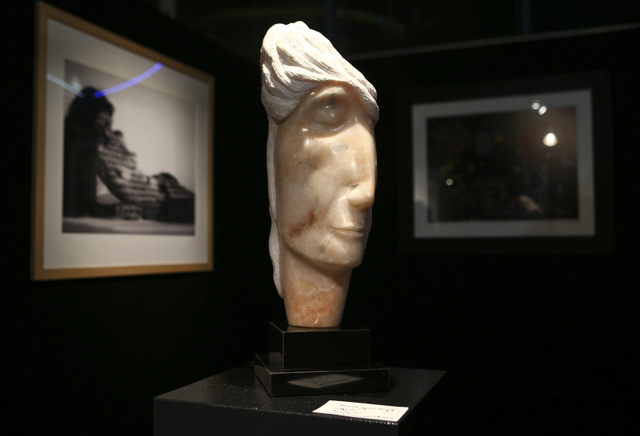 "Sharon Gainsburg's ""Muse"" is on display alongside her students' work at the Metropolitan Gallery in downtown Las Vegas. Gainsburg, who's mainly carved in alabaster and marble, has had her work exh ..."