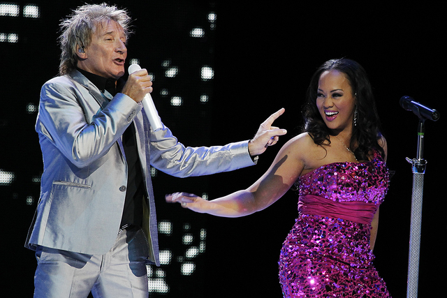 The Colosseum at Caesars Palace headliner Rod Stewart will embark on an 18-city tour this summer with Cyndi Lauper. Details to be released on Wednesday.  (Jason Bean/Las Vegas Review-Journal)