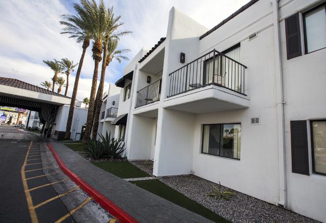 The exterior view of Rumor Boutique Hotel, 455 E Harmon Ave on Monday, Jan. 23, 2017. (Jeff Scheid/Las Vegas Review-Journal )@jeffscheid