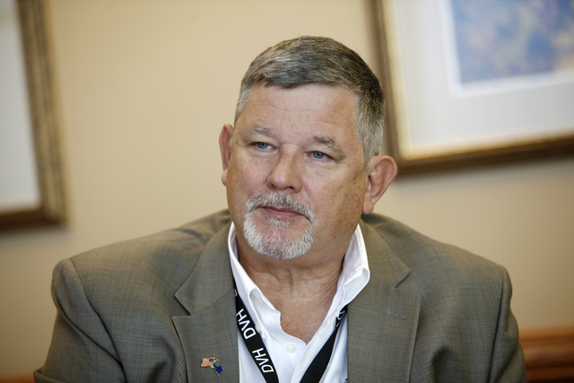 Assemblyman James Oscarson, R-Pahrump, speaks to the Review-Journal on Wednesday, Oct. 5, 2016, at the Desert View Hospital in Pahrump, Nev. (Rachel Aston/Las Vegas Review-Journal) Follow @rookie__rae