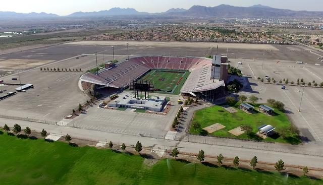 Aerial view of Sam Boyd Stadium in Las Vegas. (Michael Quine/Las Vegas Review-Journal)