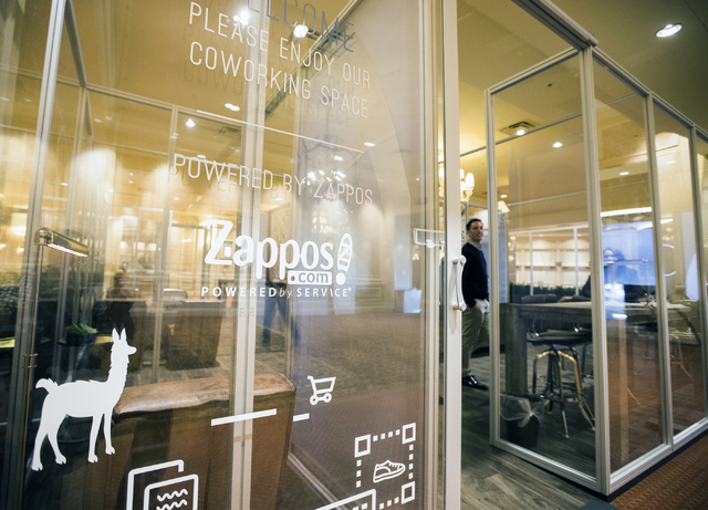 The exterior of the Zappos-branded CoWorking Lounge in a corridor leading to the Sands Expo Center on Wednesday, Jan. 25, 2017. (Jeff Scheid/Las Vegas Review-Journal) @jeffscheid