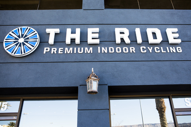 The Ride Premium Indoor Cycling, Monday, Dec. 19, 2016, recently open at 4245 S. Grand Canyon Drive in Las Vegas. (Jeff Scheid/Las Vegas Review-Journal) @jlscheid