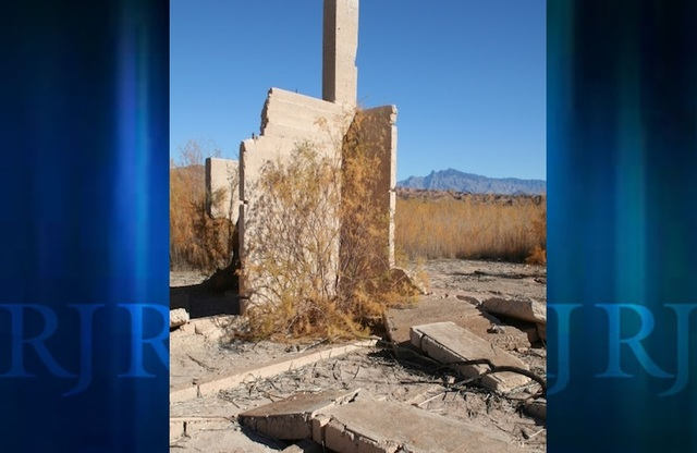 Ruins from the town of St. Thomas in Lake Mead National Recreation Area. (Deborah Wall/Las Vegas Review-Journal)