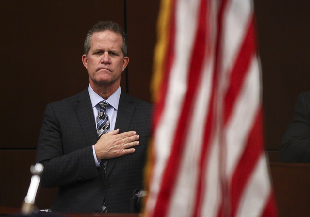 Lt. Gov. Mark Hutchison before Nevada Gov. Brian Sandoval's final State of the State address at the Legislative Building in Carson City on Tuesday, Jan. 17, 2017. (Chase Stevens/Las Vegas Review-J ...