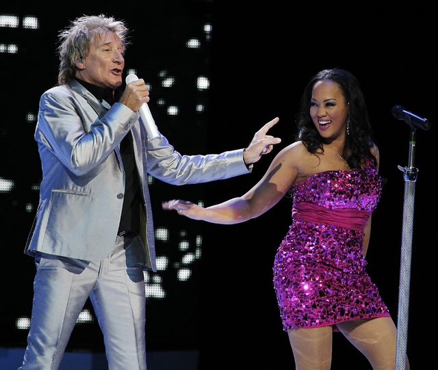 Rod Stewart performs at The Colosseum at Caesars Palace on Nov. 6, 2013, in Las Vegas. (Jason Bean/Las Vegas Review-Journal)
