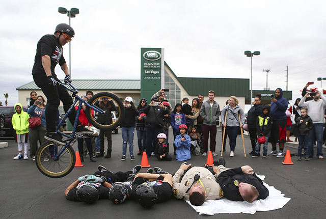 Free Helmets Bicycle Stunts Draw Parents And Kids To Las Vegas
