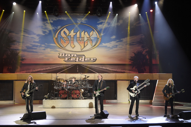 Former Eagles guitarist Don Felder and Styx perform Thursday, Jan. 5, 2017, to promote an upcoming show at the Venetian Theater in Las Vegas. (Sam Morris/Las Vegas News Bureau)