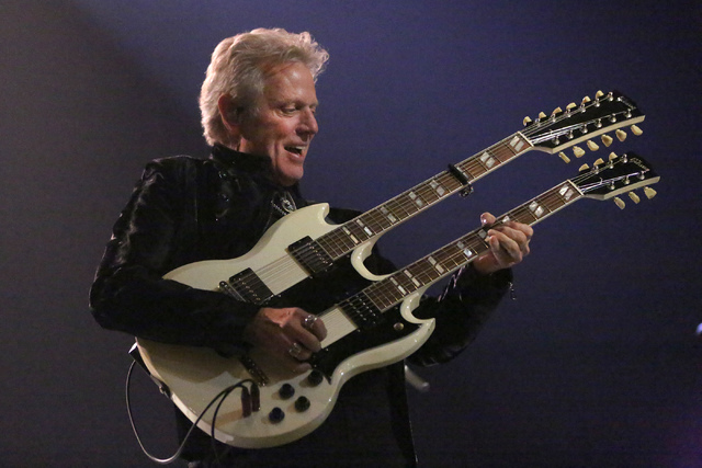 """Don Felder, formerly of the Eagles, performs """"Hotel California"""" as part of the """"Styx & Don Felder: Renegades In The Fast Lane"""" show at The Venetian Theater on Thursday, Jan. 5, 2017. (Mich ..."""