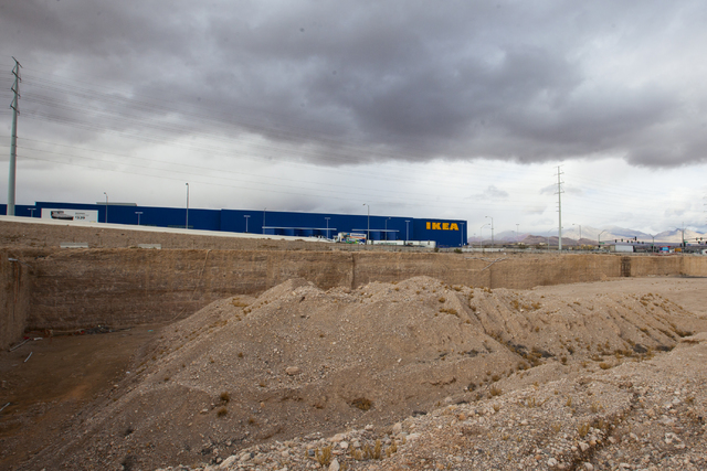 A plot of land at the southeast corner of Sunset Road and Durango Drive that has sat vacant since 2008 is shown in Las Vegas on Thursday, Jan. 19, 2017. The location was originally meant to house  ...
