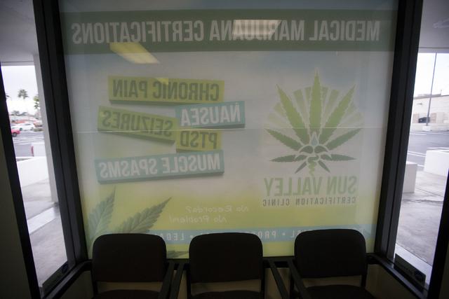The waiting room at the Sun Valley medical marijuana certifications clinic on Wednesday, Jan. 4, 2017, in Las Vegas. Erik Verduzco/Las Vegas Review-Journal Follow @Erik_Verduzco