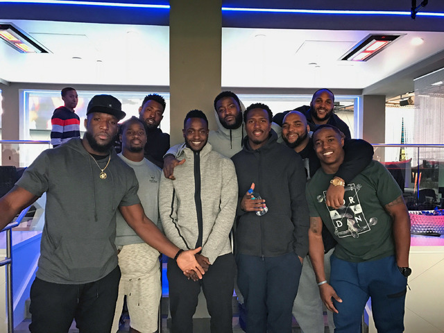 Tennessee Titans players and friends at Topgolf at MGM Grand on Saturday, Jan. 7, 2017, in Las Vegas. (Courtesy)
