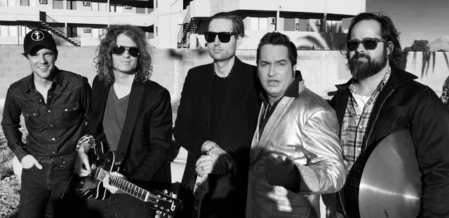 The Killers with Las Vegas tribute artist Jesse Garon, second from right. (Jesse Garon)