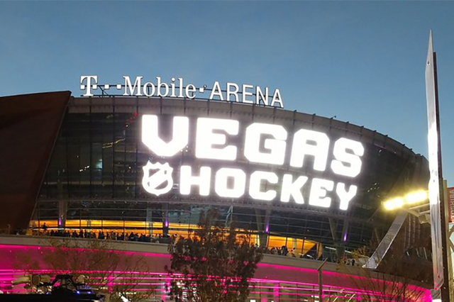 T-Mobile Arena opened in April on the Las Vegas Strip. (@bookmarkdavis/Twitter)