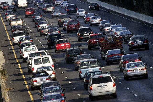 Rush-hour traffic on the inner loop of I-495 West. The Washington, D.C., region gets two mentions in the top 100 worst bottlenecks in the U.S. (Juan Arias/The Washington Post)