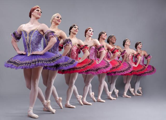 The all-male comedy drag-dance company Les Ballets Trockadero de Monte Carlo. (Sascha Vaughn)