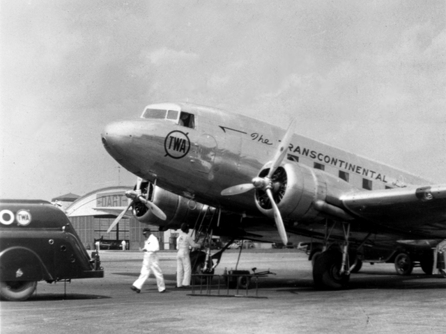 A TWA DC-3 like this one crashed on Potosi Mountain, on Jan. 16, 1942, killing all 22 on board.