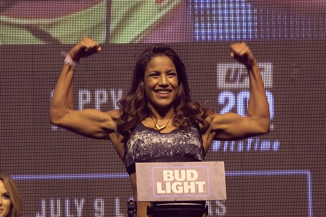 UFC on Fox 23 headliner Julianna Pena thinks a win over Valentina Shevchenko will put her in line for a shot at the UFC women's bantamweight title. Pena says the reigning champion, Amanda Nunes, s ...