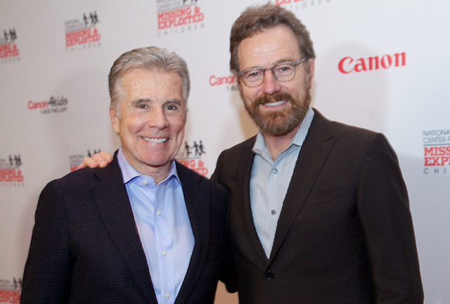 John Walsh and Bryan Cranston, seen during the Canon USA National Center for Missing and Exploited Children gala at the Bellagio. (Courtesy photo)