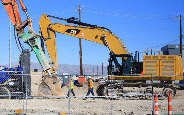 Construction at the intersection of Charleston and Martin Luther King Boulevards continues on Saturday, Jan. 28, 2017, in Las Vegas. Brett Le Blanc/Las Vegas Review-Journal Follow @bleblancphoto