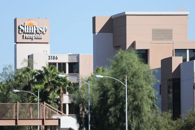 Sunrise Hospital and Medical Center in Las Vegas is seen on Thursday, Oct. 20, 2016. (Brett Le Blanc/Las Vegas Review-Journal Follow @bleblancphoto)