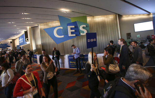 Attendees during CES at the Sands Expo and Convention Center in Las Vegas on Friday, Jan. 6, 2017. (Chase Stevens/Las Vegas Review-Journal) @csstevensphoto