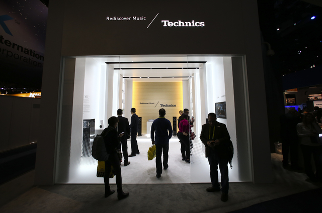 The Technics booth during CES at the Las Vegas Convention Center in Las Vegas on Friday, Jan. 6, 2017. (Chase Stevens/Las Vegas Review-Journal) @csstevensphoto