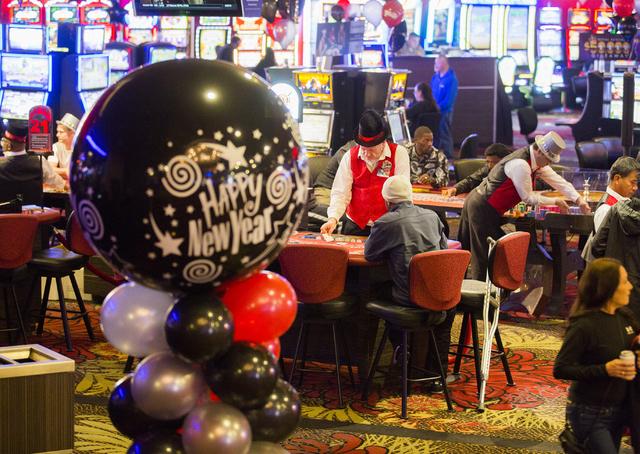 People gamble in the Plaza hotel/casino during New Year's Eve. Jeff Scheid/Las Vegas Review-Journal Follow @jeffscheid