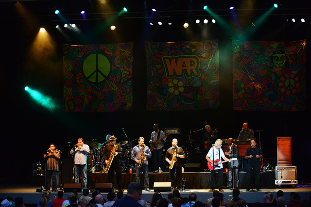 Tower of Power performing at Chastain Park Amphitheatre on Friday, August 23, 2013, in Atlanta. (Photo by Robb D. Cohen/RobbsPhotos/Invision/AP)