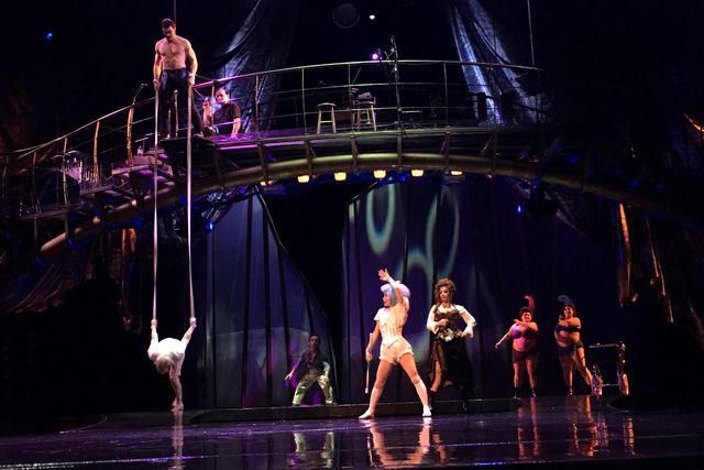 "A segment from the upcoming ""One Night For One Drop"" charity show at Zumanity Theater at New York-New York on Jan. 11, 2017. (John Katsilometes/Las Vegas Review-Journal)"