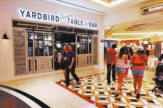 The exterior of Yardbird is seen at The Venetian on Saturday, April 11, 2015, in Las Vegas. (Sam Morris/Las Vegas Review-Journal)