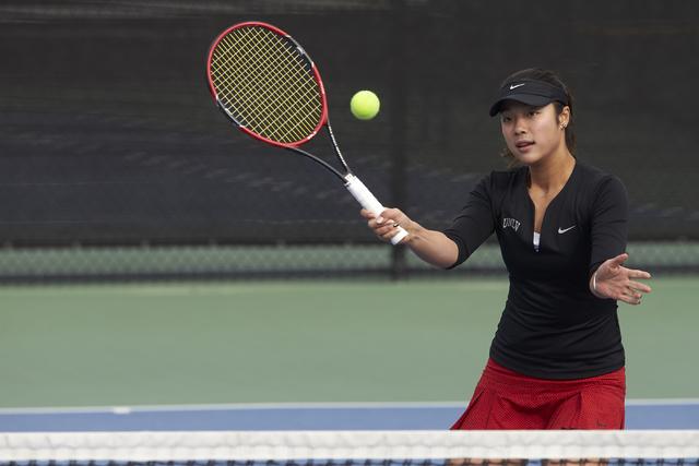 Aiwen Zhu.  UNLV women's tennis players on January 18, 2016. (R. Marsh Starks / UNLV Photo Services)