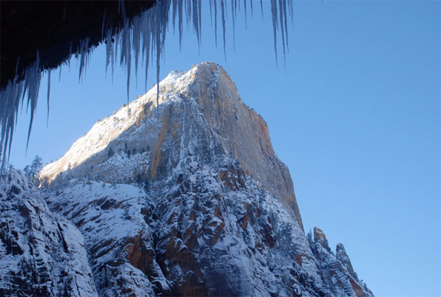 A winter scene in Utah's Zion National Park (Twitter/Zion National Park)