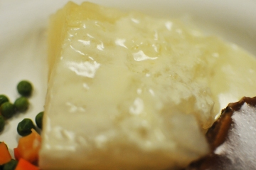 Lutefisk, known for its gelatinous consistency, is seen up close during the early lutefisk dinn ...