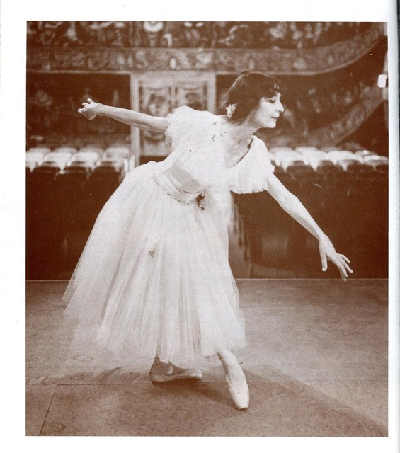 Marta Becket, shown in this undated photo on stage at the Amargosa Opera House, refurbished the theater and danced on the stage for more than 40 years. She died Monday at 92. (Courtesy of Amargosa ...