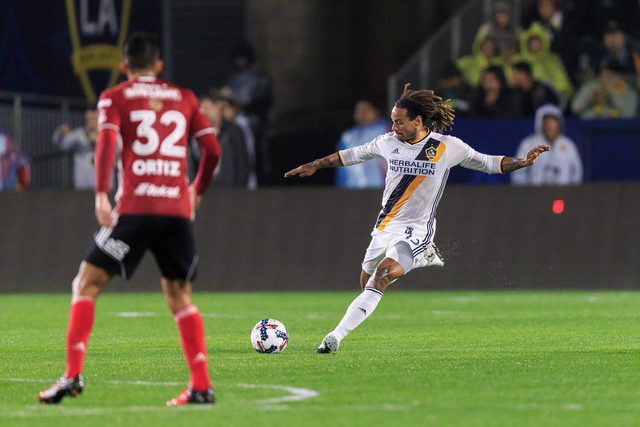 Jermaine Jones made his Los Angeles Galaxy debut on Tuesday against Tijuana Xolos at the StubHub Center. Jones played in the 2014 World Cup with the United States. Courtesy of LA Galaxy.