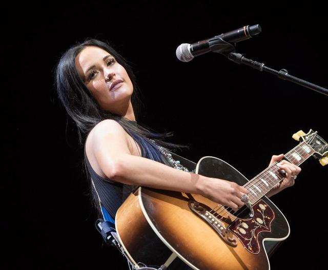 "Kacey Musgraves opens for George Strait at T-Mobile Arena during their hit residency ""Strait to Vegas"" on Friday, Feb. 17, 2017, in Las Vegas. (Tom Donoghue)"