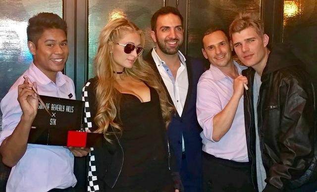 Paris Hilton at STK at The Cosmopolitan of Las Vegas on Sunday, Feb. 5, 2017. (Courtesy)