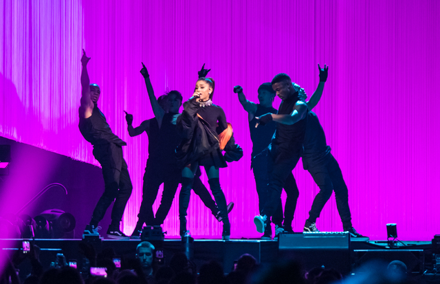 """Ariana Grande headlines MGM Grand Garden Arena with her """"Dangerous Woman Tour"""" on Saturday, Feb. 4, 2017, in Las Vegas. (MGM Resorts International)"""