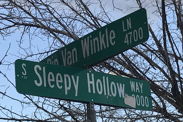 Rip Van Winkle Lane and Sleep Hollow Way are among the fairytale-inspired street names in Enchanted Village, a development near South Decatur Boulevard and Pennwood Avenue that was created in 1963 ...