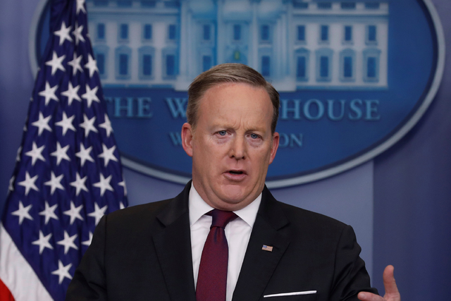 White House Communications Director Sean Spicer holds the daily press briefing at the White House in Washington, U.S. February 23, 2017. (Jonathan Ernst/Reuters)