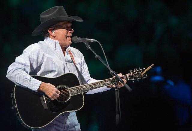 "George Strait headlines T-Mobile Arena with his hit residency ""Strait to Vegas"" on Friday, Feb. 17, 2017, in Las Vegas. (Tom Donoghue)"