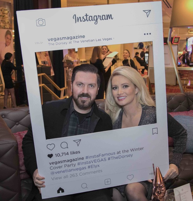 Pasquale Rotella and Holly Madison at The Dorsey at The Venetian on Thursday, Jan. 26, 2017, in Las Vegas. (Courtesy)