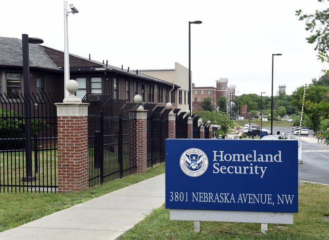 FILE - In this June 5, 2015 file photo, a view of the Homeland Security Department headquarters in Washington. Analysts at the Homeland Security Department's intelligence arm found insuffic ...