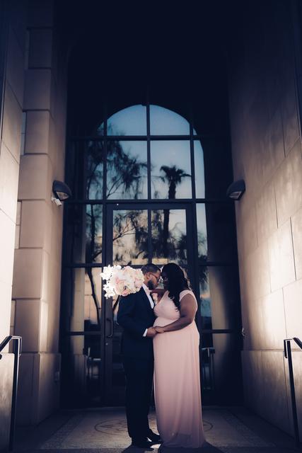 The wedding vow renewal of Shanaye Sommers of Las Vegas. (Vegas Weddings)